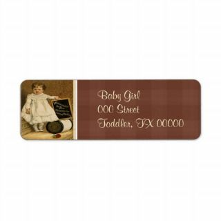 Victorian Child Ad Thread Return Address Labels