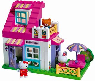 Big Hello Kitty Haus Bausteine Lego Duplo Komp 59 tlg