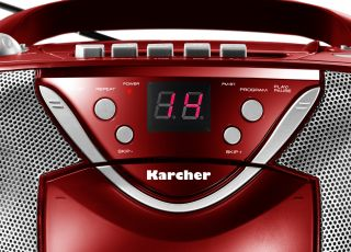 Karcher RR 5031N Boombox (CD RW, UKW Tuner, 50 Watt, Kassetten Player