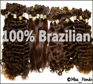Premium 100% BRAZILIAN Virgin Human Remy Natural Weave Hair Extensions