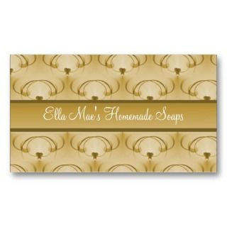 Refined Elegance Business Card, Golden Beige