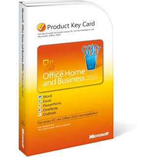 Office 2010 Home & Business 32/64 Bit Deutsch 1 User PC (PKC)