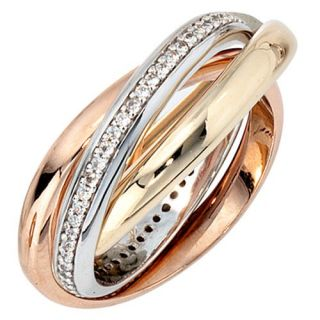 Ring mit 64 Diamanten Brillanten, 585 Gold Weißgold Gelbgold Rotgold