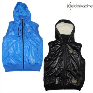 Adidas Chile 62 Gilet Herren Kapuzen Weste Blau   Schwarz Hoodie