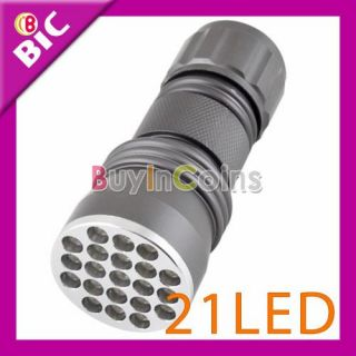 21 LED Ultra Violet UV Light Torch Flashlight Camping