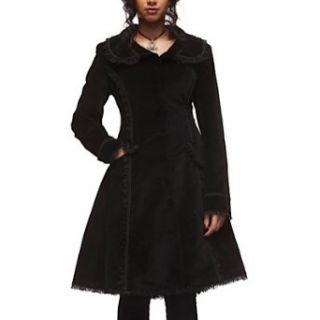 Spin Doctor Samt Mantel CRAZY DOLL COAT black Bekleidung