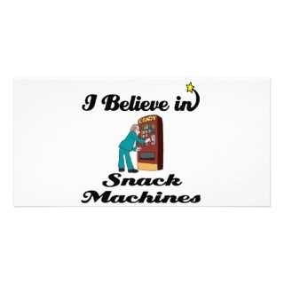 believe in snack machines photo card template