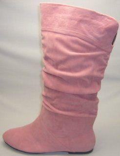 Andres Machado   Tolle Rosa Stiefel im Knautsch Look