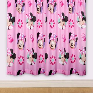 DISNEY MINNIE MOUSE PRETTY 66 x 72 CURTAINS NEW matches duvet cover