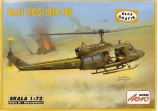 BELL 205 (HUEY) / UH 1 N SPECIAL OPERATIONS 1/72 AEROPLAST