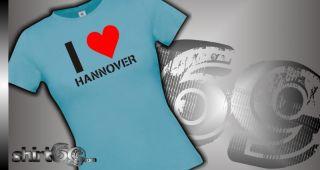 Lady Shirt Deine Stadt Hannover zeig woher du kommst Kult XS XL 00995
