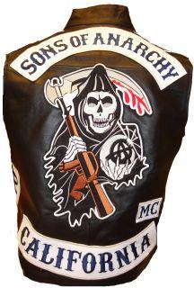 Sons of Anarchy SOA SAMCRO Redwood ORIGINAL Leder Weste Kutte v. JAX