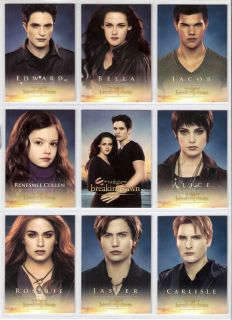 Twilight   Breaking Dawn Part 2   Trading Card Set   72 Cards