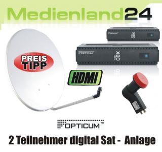 Teilnehmer Sat Anlage digital Opticum X80 HDMI