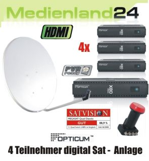 Teilnehmer Sat Anlage Opticum X80 HDMI PVR digital