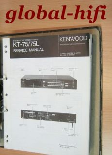 KENWOOD KT 75/KT 75L Stereo Synthesizer Tuner Service Manual (intern