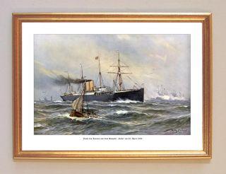 von Kaiser Wilhelm II mit Dampfer Lahn 1890 DEUTSCHE FLOTTE STÖWER 79