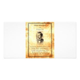 Morgan Earp Wanted Customized Photo Card