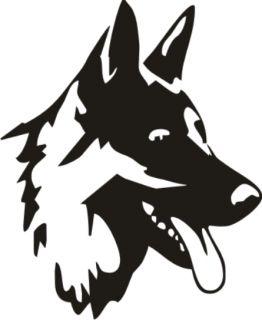 Schäfer Hund Wachhund Treu Lieb Tattoo Aufkleber Heck Sticker Auto