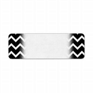 Black and White Zig Zag Pattern. Return Address Labels
