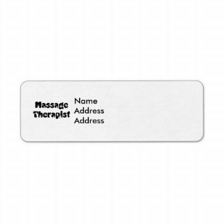 Massage Therapist Return Address Label