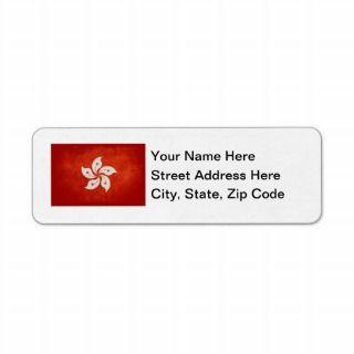 Hong Kong Custom Return Address Labels
