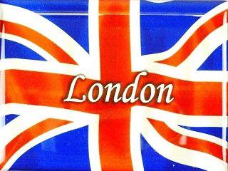 Magnet LONDON ENGLAND UNION JACK Fahne Flag,8 cm,NEU,Souvenir Great
