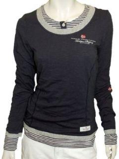 Napapijri Damen Longsleeve Shirt T Shirt STRIKI, L, blu marine
