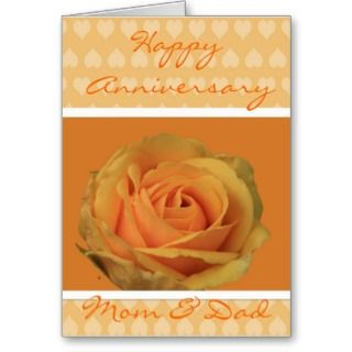 Note Cards and Happy Anniversary Mom Dad Greeting Card Templates
