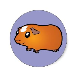 Cartoon Guinea Pig (red crested) stickers by SugarVsSpice