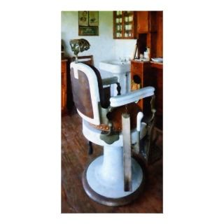 Barber Chair with Cash Register Photo Card