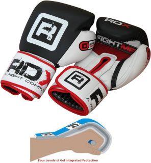 Authentic RDX Pro Cow Hide Leather Gel Tech Boxing Gloves 16oz