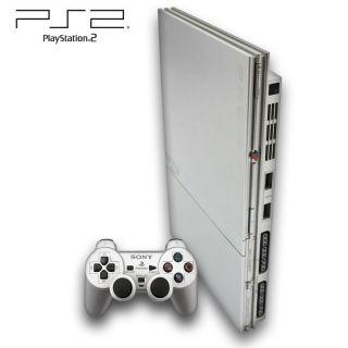 Sony Playstation 2 Konsole Slim silber (inkl. Dual Shock Controller