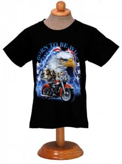 Kinder Biker T Shirt  Born to be Wild  Easy Rider Kid