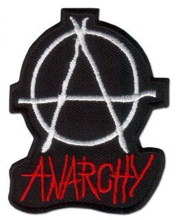 Anarchy ★ Anarchie Chaos Punk Aufnäher Disorder Logo Emblem