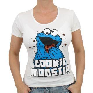 Logoshirt   Sesamstrasse Krümelmonster Girlie Shirt, we