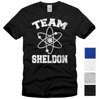TEAM SHELDON T Shirt The Big Bang Theory Vintage Cooper Serie S M L XL