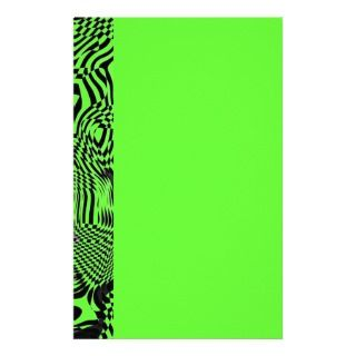 Organic Optical Illusion 1 Personalized Stationery