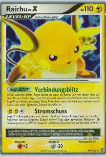 NEU   RAICHU lv.X  99/100  Silverstar Pokemon Sturmtief