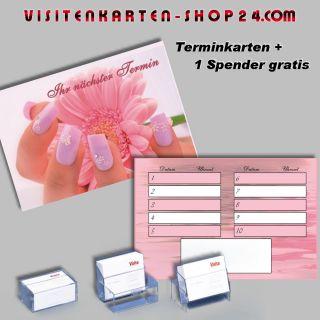 100 Terminkarten Nagelstudio 5 Nail Design + Spender