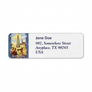 Our Lady of Fatima Custom Return Address Label