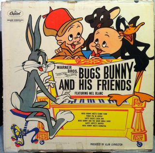 BUGS BUNNY AND HIS FRIENDS mel blanc LP VG  J 3257 Vinyl Record