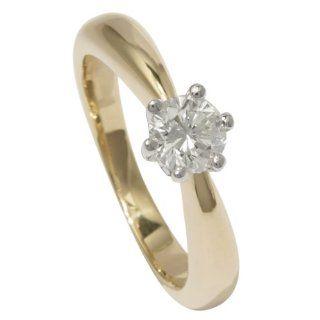 Bella Donna Damen Ring 14 Karat Gelbgold / Weißgold 1 Brillant 0,45ct