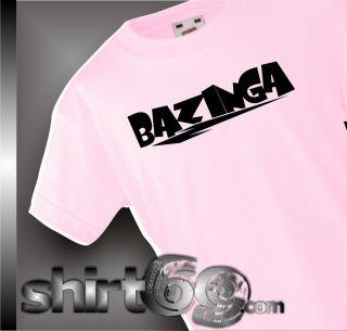 Kinder Shirt The Big Bang Theory Bazinga Größe 104 164 01176