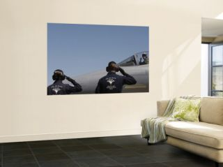 U.S. Air Force Senior Airmen Salute the Captain during Sentry Eagle, August 11, 2007 Wall Mural