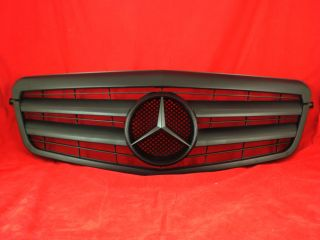 W212 Mercedes E Kühlergrill Sport Grill + Stern matt schwarz