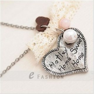 Anhänger Retro Gravur Damen Lange Kette necklace NEU 101 0113