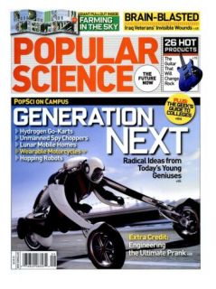 Front cover of Popular Science Magazine: September 1, 2008 Posters
