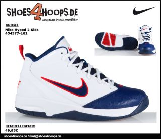 NIKE HYPED 2 GR. 40 KINDER BASKETBALLSCHUHE 454577 102