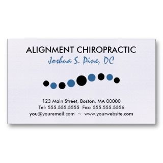 Modern Dots Chiropractic Business Cards